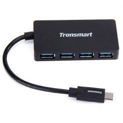 Tronsmart CT4H 15 cm Type-C Male To 4 Port USB 3.0 USB-A  Hub - Black