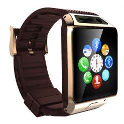 Smart Bluetooth Phone Wrist Watch with Camera - Gold