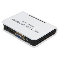 VGA to HDMI Video Converter Box with Audio - White