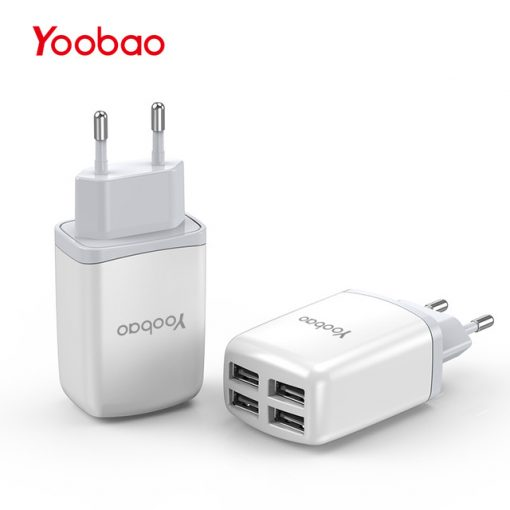 YOOBAO YB-703 4 USB Port Universal Charger - White
