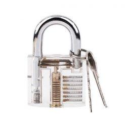 Transparent Stainless Steel Locksmith Lock Pick Training Practice Lock - Transparent