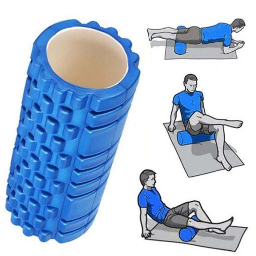 Yoga Foam Roller Exercise Tube - Blue