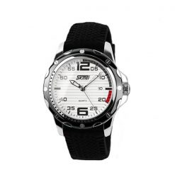 SKMEI 0992 30M Waterproof Casual Watch - White/Black