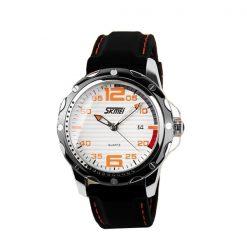 SKMEI 0992 30M Waterproof Casual Watch - White/Orange