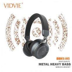 Vidvie BBH2102 Heavy Bass Smart Wireless Bluetooth Headset - Gray