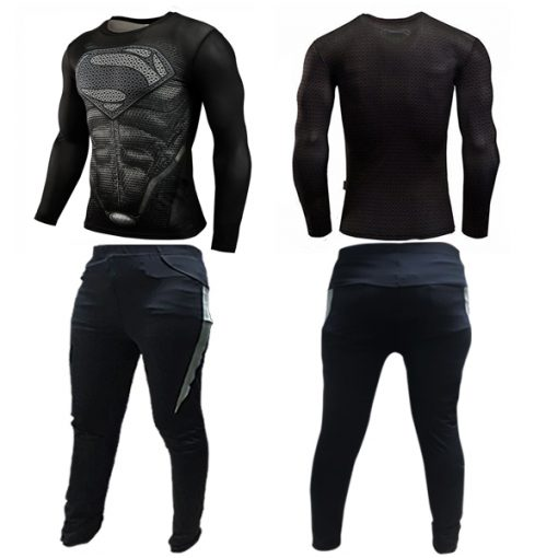 Super Hero Compression Wear Superman Large - Black