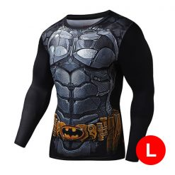 Super Hero Compression Wear Batman Large - Black