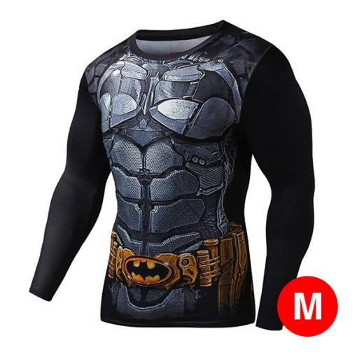 Super Hero Compression Wear Batman  Medium - Black