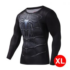 Super Hero Compression Wear Spider Man XL - Black