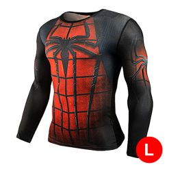 Super Hero Compression Wear Spider Man Large - Red