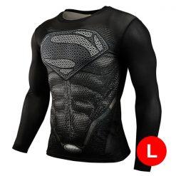 Super Hero Compression Wear Superman Large - Black