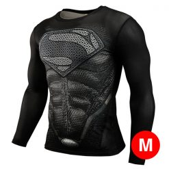 Super Hero Compression Wear Superman Medium - Black