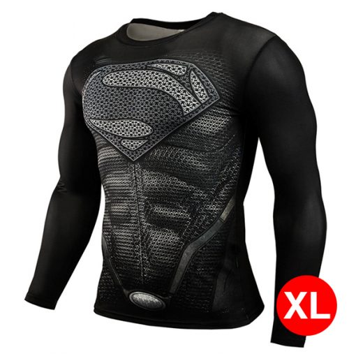 Super Hero Compression Wear Superman XL - Black