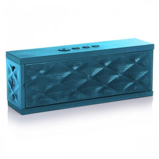 Wireless Bluetooth Boombox Mini Speaker with Microphone - Blue
