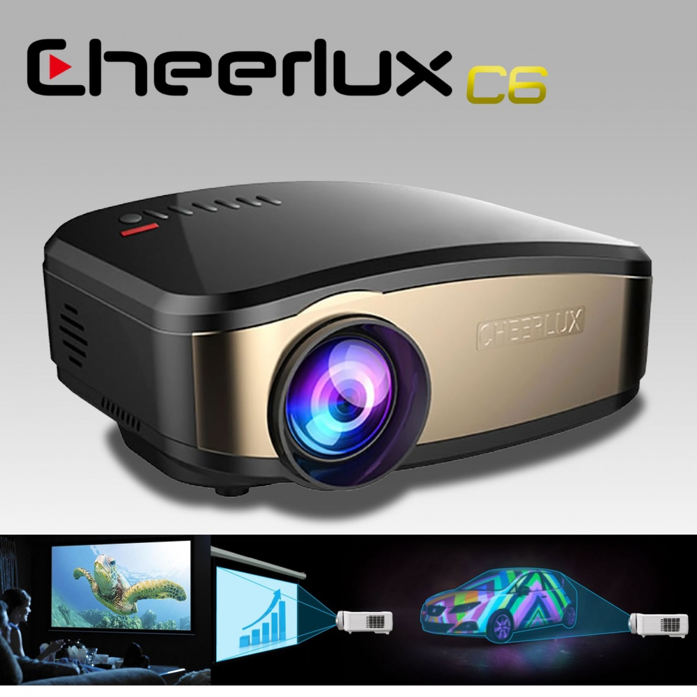 C6 Mini Projector With WIFI Connection To Phone - Black