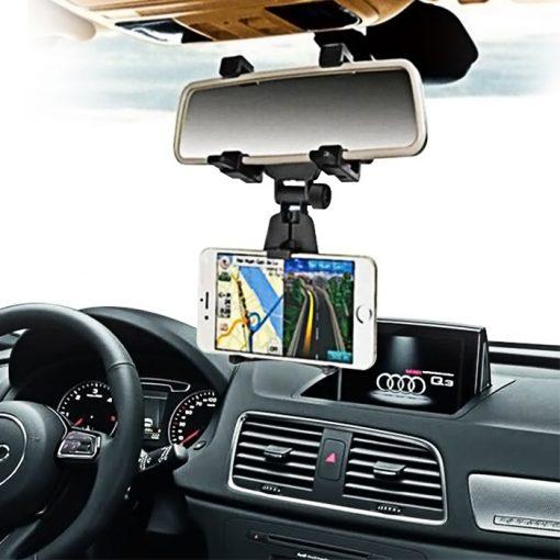 Universal Car Rear View Mirror Mount - Black