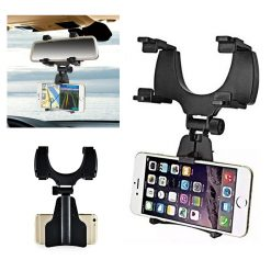 Universal Car Rear View Mirror Mount - Black