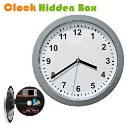 Wall Clock with Hidden Safe - Gray