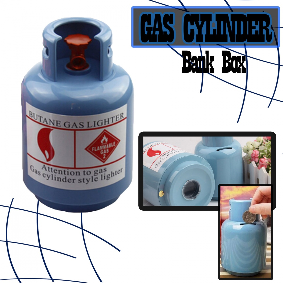 LPG Gas Tank Bank Box  - Blue