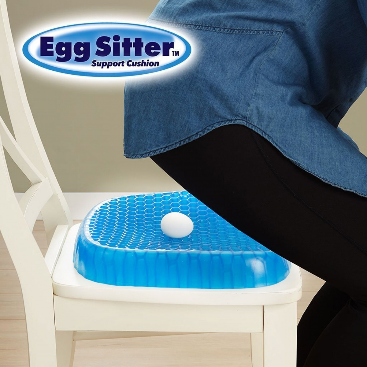 Egg Sitter Support Cushion - Blue