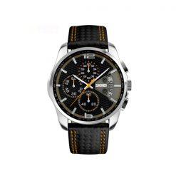 Waterproof Fashion PU Leather Band Wrist Watch 9106 - Orange