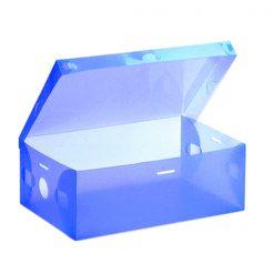 Transparent Shoe Box 33 x 20.5 x 12.5 cm - Blue