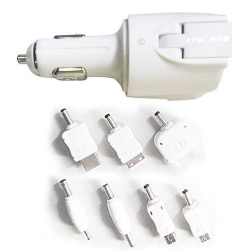 USB Universal Car and Home Charger Power Partner - White