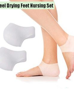Silicone Gel Heel And Ankle Sleeve For Plantar Fascilitis - White
