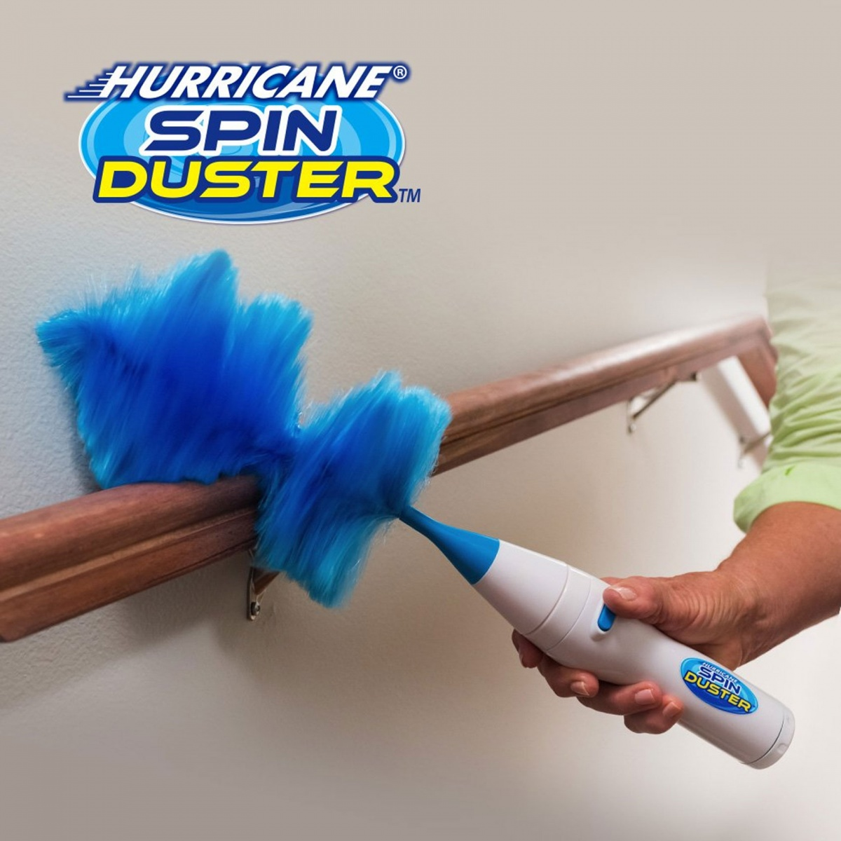 High Speed Motorized Extendable Spin Duster - Blue