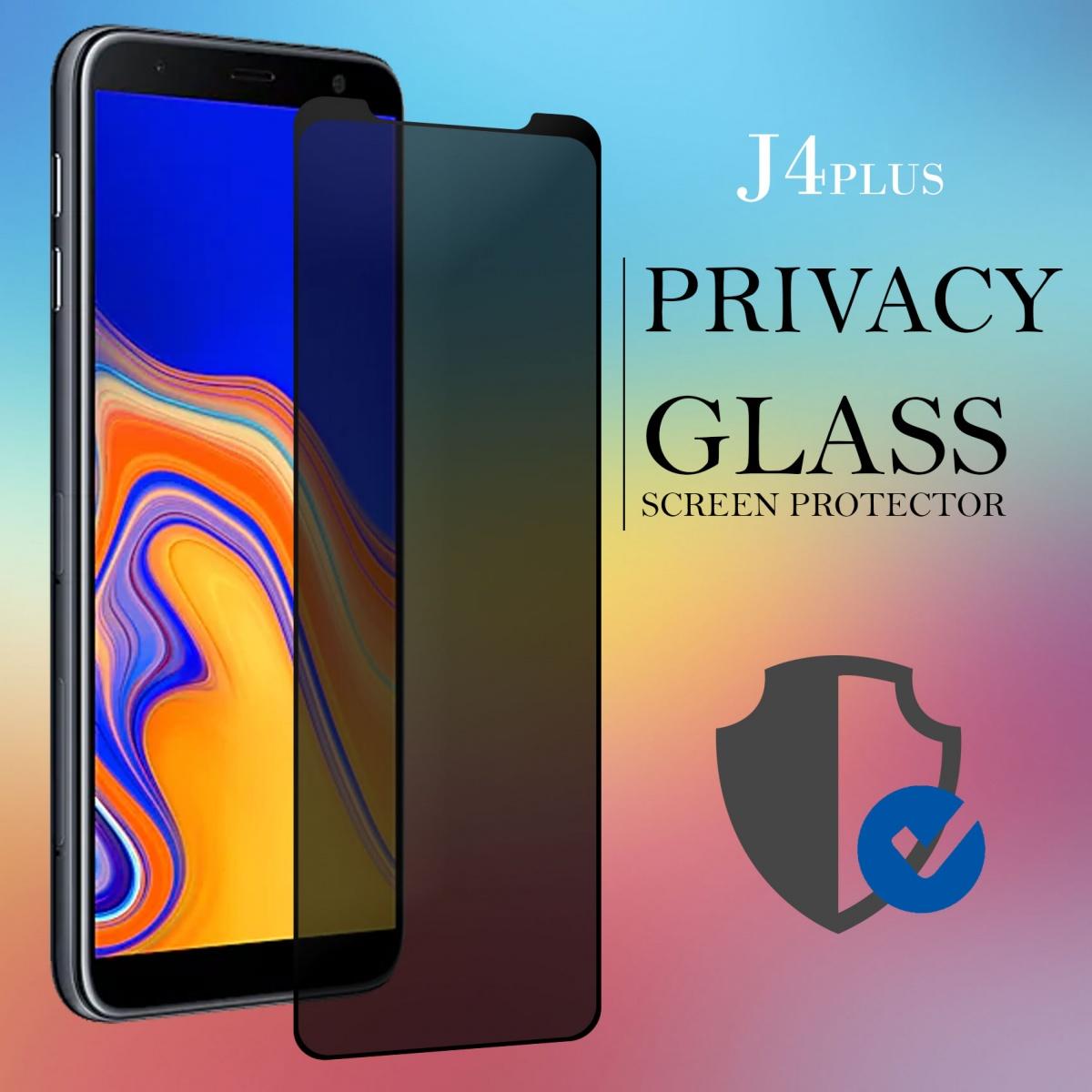 Samsung J4 Plus Privacy Full Screen Temper Glass