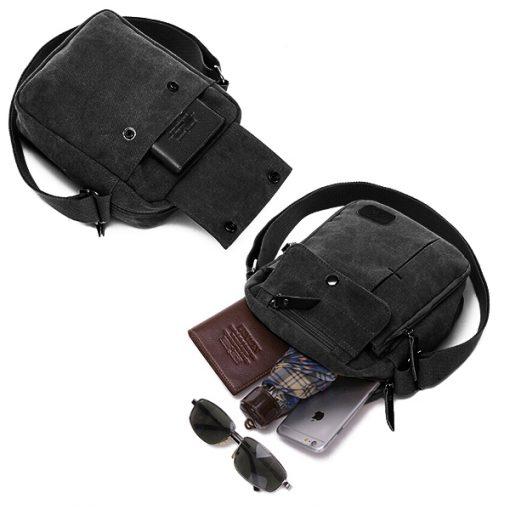 Tactical Soulder Bag - Black