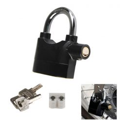 Siren Alarm Lock Anti-Theft Security System Door Motor Bike Bicycle Padlock - Black