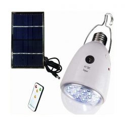 Solar Rechargeable E27 LED Bulb With Remote Control And Emergency Light Function