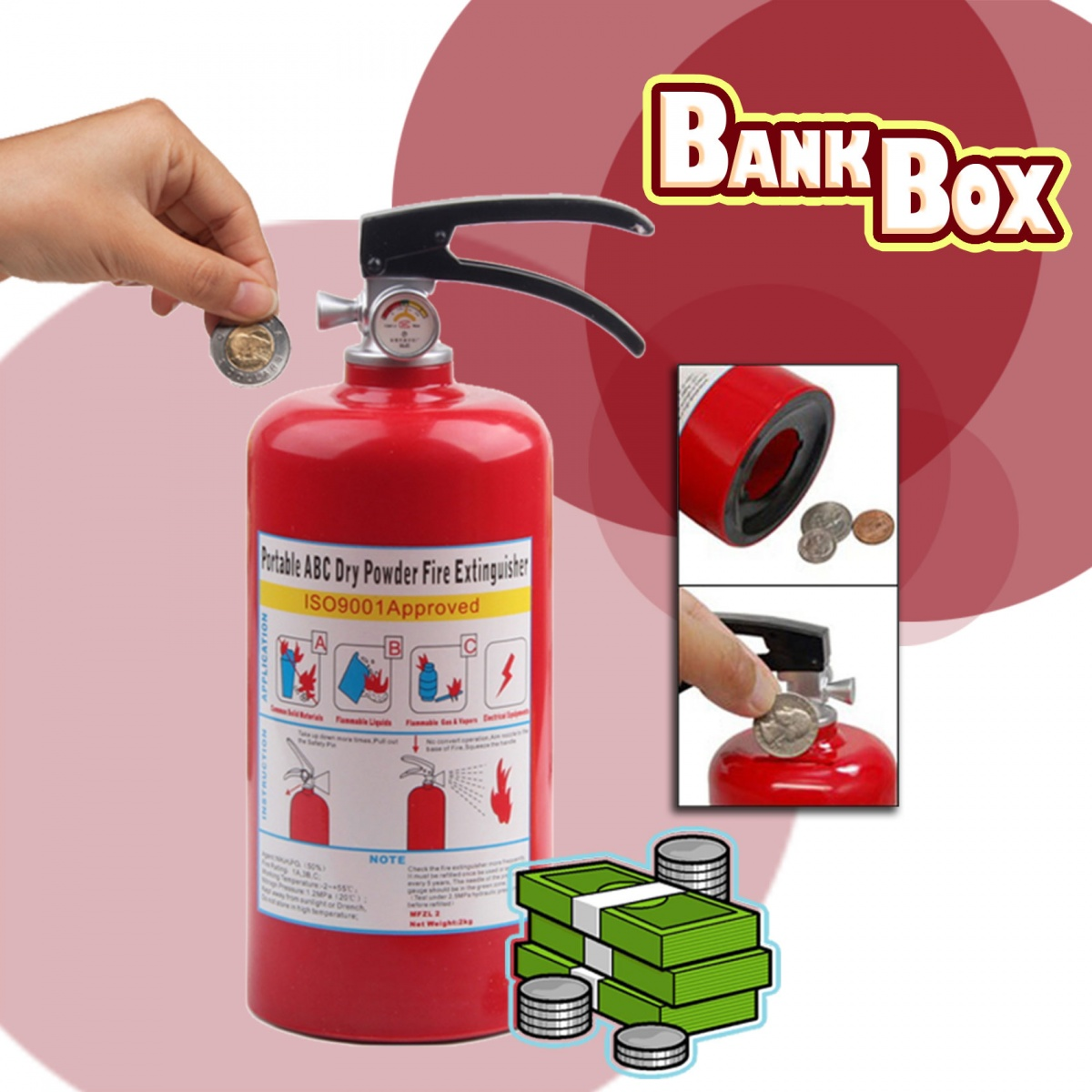 Fire Extinguisher  Bank Box - Red