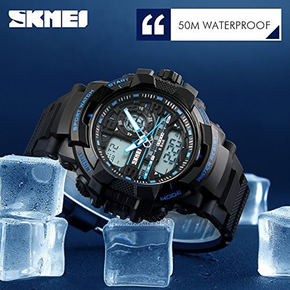 Skmei 1164 Dual Model Sports Watch - Black