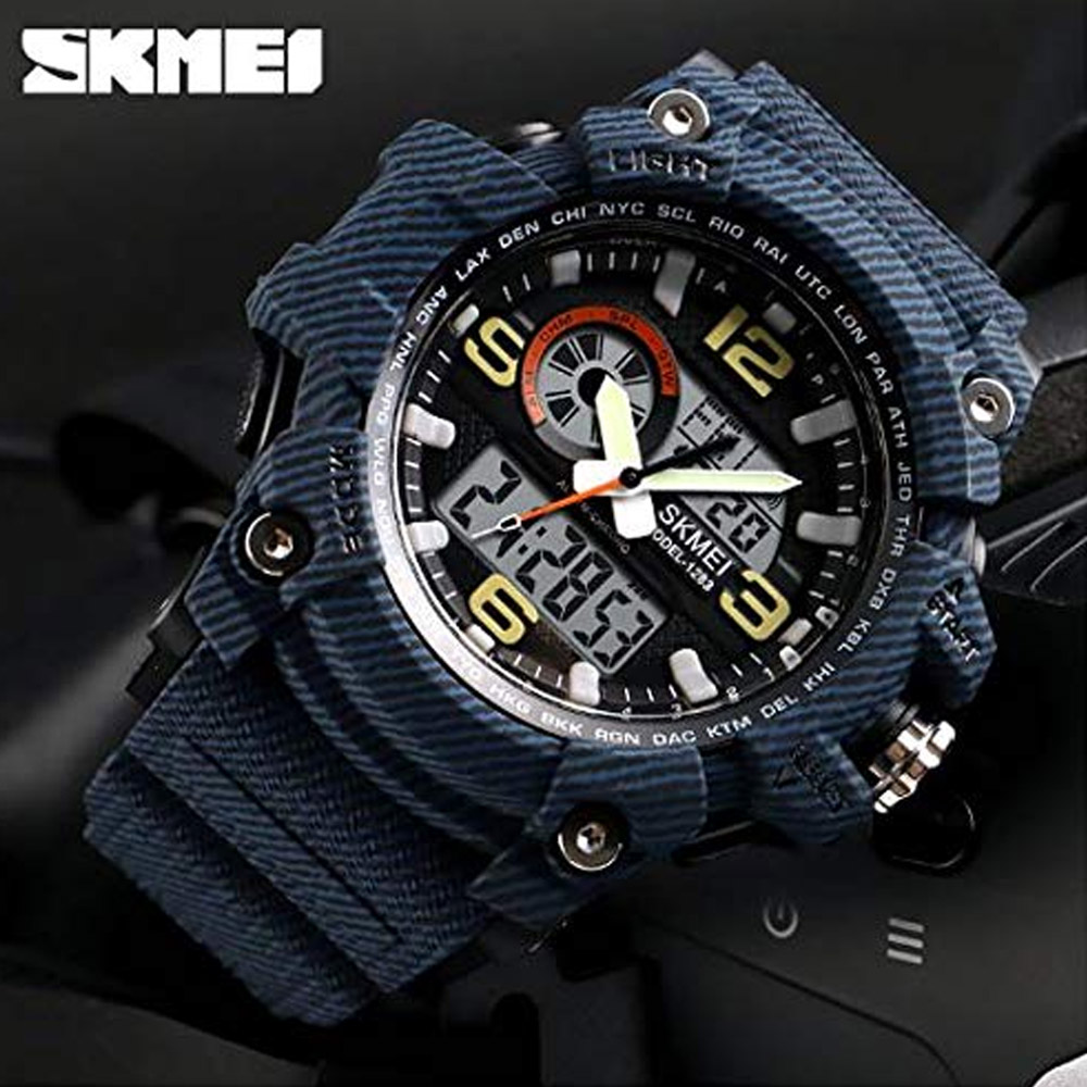 Skmei 1283 Dual Display Quartz Watch - Denim
