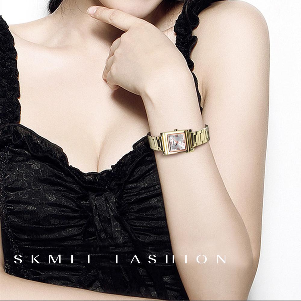 Skmei 1388 Luxury Quartz Women's Watch - Gold