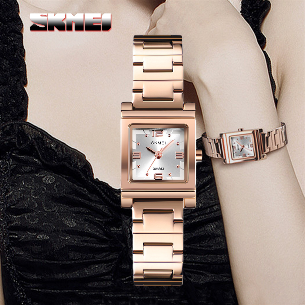 Skmei 1388 Luxury Quartz Women's Watch - Rose Gold