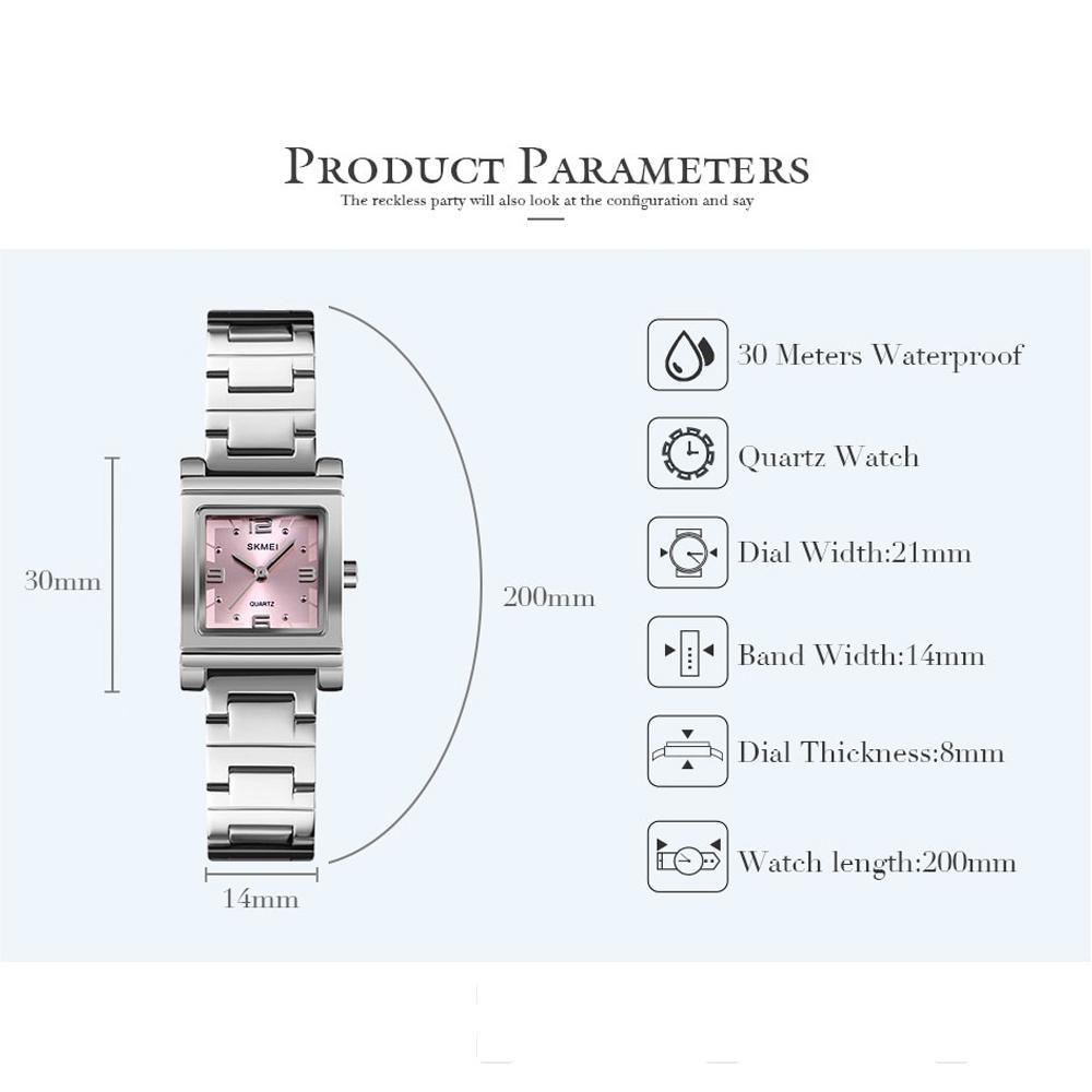 Skmei 1388 Luxury Quartz Women's Watch - Silver
