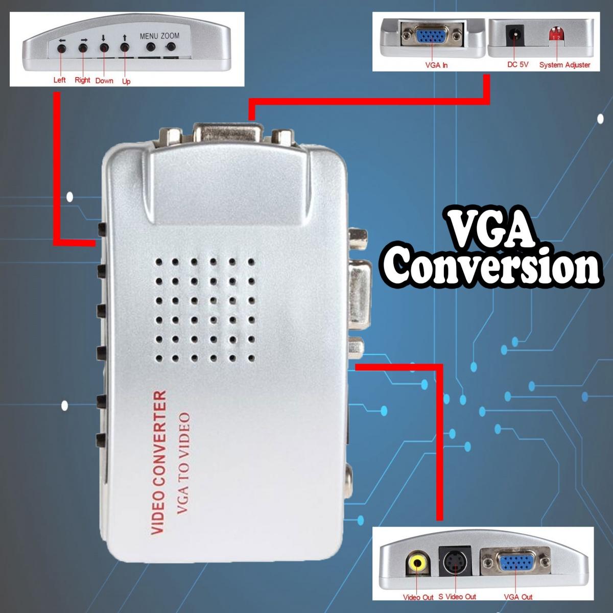 VGA to VIDEO  Converter - Silver