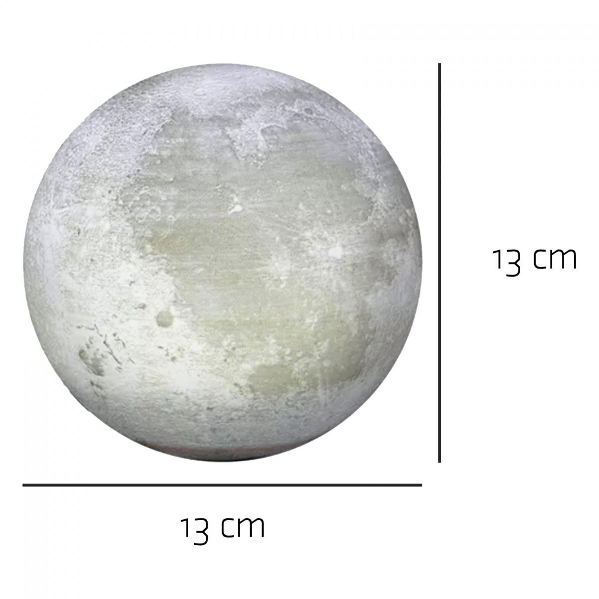 Magnetic Levitation Light Changing Moon Lamp - White