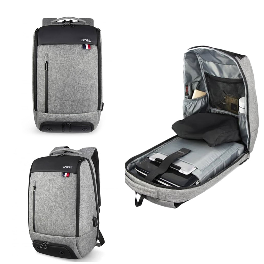 DTBG 8272 Travel Laptop Bag  With USB Port- Grey