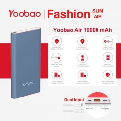 Yoobao A1 Polymer 10000mAh Power Bank - Blue