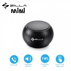 Zilla Mini Wireless Bluetooth Speaker with Multiple Speaker Wireless Pairing Function Single - Black