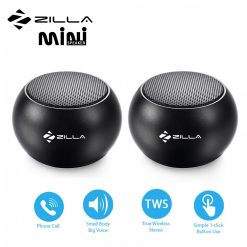 Zilla Mini Wireless Bluetooth Speaker with Multiple Speaker Wireless Pairing Function Double - Black
