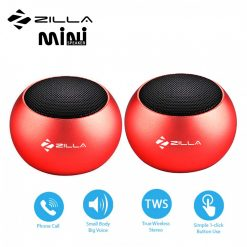 Zilla Mini Wireless Bluetooth Speaker with Multiple Speaker Wireless Pairing Function Double - Red
