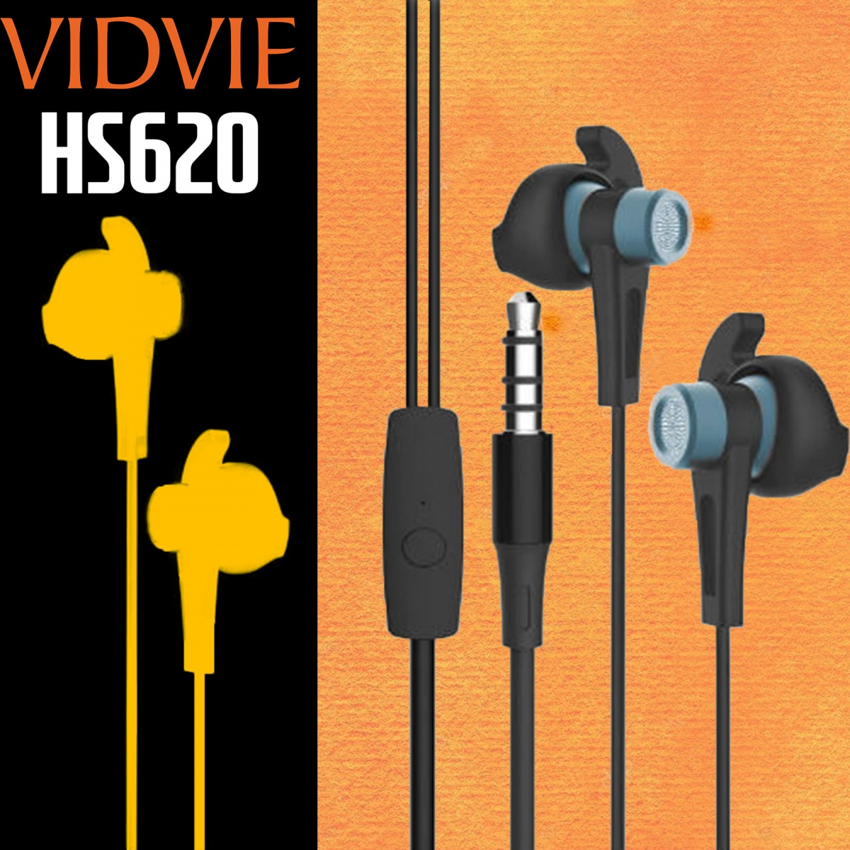 Vidvie HS620 Sports Wired Earphone - Black