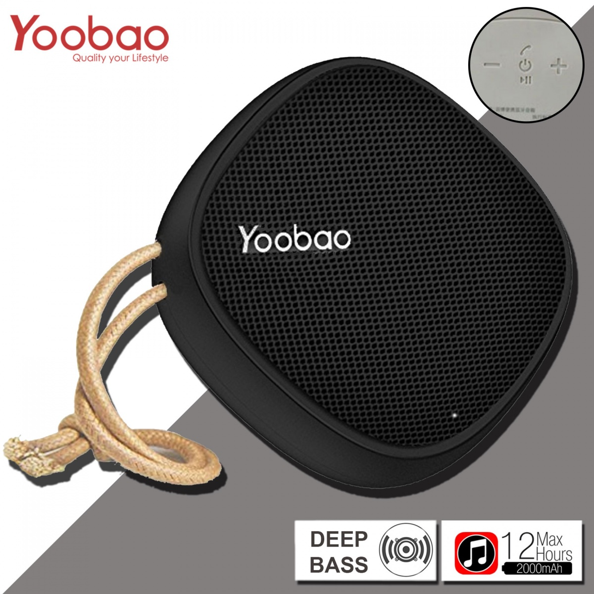 Yoobao M1 Portable Bluetooth Speaker - Black
