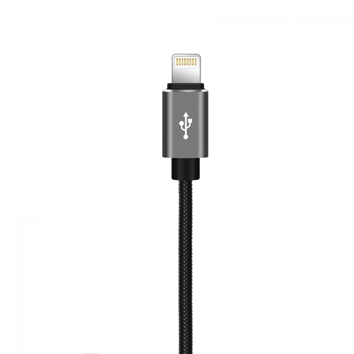 XO NB31 Lightning USB Elbow Alloy 2.4A Cable - Black