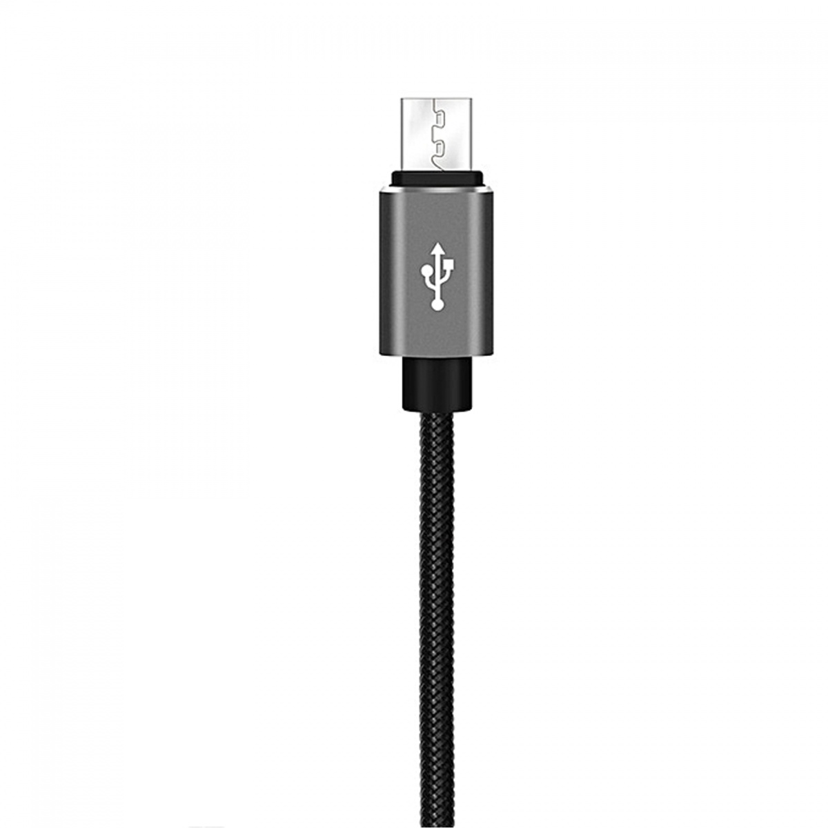 XO NB31 Micro USB Elbow Alloy 2.4A Cable - Black